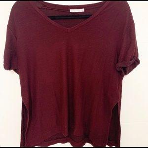 Zara - Maroon waffle shirt 🍂